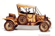 Ford modelle T (1913) - Holz natürlichen Spielzeug, Autos und Flugzeugmodelle, Engel, Schmuckschatullen