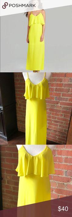 Gianni Bini Fluorescent Yellow Maxi Dress Stunning yellow maxi dress by Gianni Bini! In great condition! Size Small. 100% Polyester. Gianni Bini Dresses Maxi