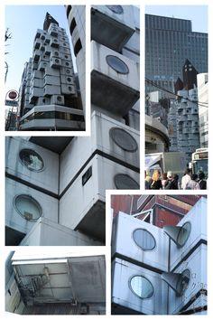 Nakagin Capsule Tower (中銀カプセルタワー) Shimbashi, Tokyo, Japan 1972 Kisho Kurokawa JapArch, photo by Hubert Roguski