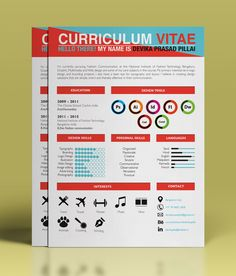 "Another colorful resume designe by Devika Pillai, via Behance. For more great resume ideas search Aaron Sheppard and look at my ""? - Design - Resumes"" board. Creative Resume Design, Resume Style, Resume Design, Curriculum Vitae, CV, Resume Template, Resumes, Resume Format."