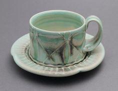 Amelia Stamps - Flower Espresso Cup & Saucer