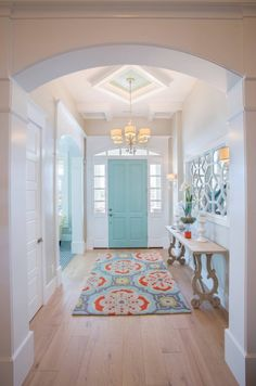 My dream home! House of Turquoise: Highland Custom Homes door color perfection. Just sayin' Home Design, Flur Design, Design Ideas, Design Trends, Design Styles, Design Projects, Design Design, Design Blogs, Design Room