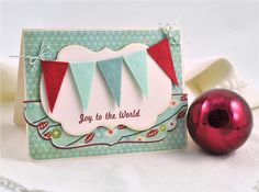 This charming handmade card gets its vintage-inspired look from layers of patterned paper.  http://www.hgtv.com/handmade/13-handmade-holiday-cards/pictures/page-3.html?soc=pinterest