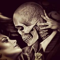 Chicano Hopelessly In Love. Amor Chicano, Chicano Love, Chicano Tattoos, Chicano Art, Skull Tattoos, Body Art Tattoos, Tatoos, Arte Cholo, Cholo Art