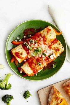 Black Bean, Corn, and Spinach Enchiladas  - CountryLiving.com