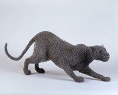 "--Kendra Haste-- ""Clouded Leopard"" - maquette painted galvanised wire - unique x in / x x cm Twig Art, Clouded Leopard, British Wildlife, Junk Art, Albrecht Durer, Collage Artists, Leopards, Art Classroom, Sculpture Art"