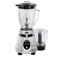 Oster Whirlwind Heritage Blend 48 oz. 1000 Plus 2 Speed Blender in Chrome with Food Processor and Glass Blender Jar-985114166M - The Home Depot Blender Food Processor, Food Processor Recipes, Glass Containers, Glass Jars, Glass Blender, Hand Held Blender, Beehive Design, Coffee Machines For Sale, Espresso Coffee Machine