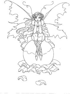 88 Best fairy coloring images   Coloring books, Coloring pages ...