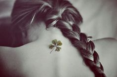 I don't think this is actually a tattoo, but if I ever got a clover tattoo, I would want it to look a bit like this- actually realistic, not cartoonish
