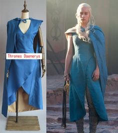 New Highly Restore High Quality Custom Made Game Of Thrones Daenerys Targaryen Green Dress Cosplay Costume-in Costumes from Apparel & Acces...