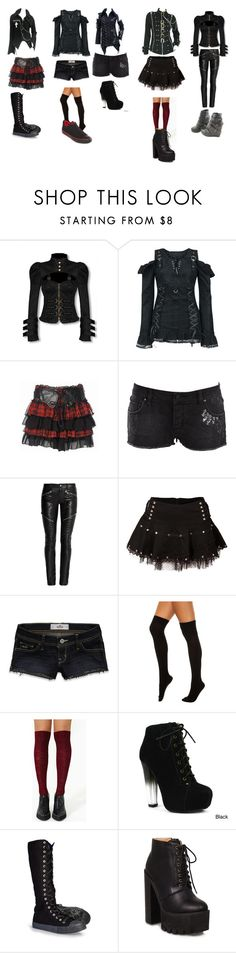 """""""punk school"""" by tvogel-cupcakes-11-17 ❤ liked on Polyvore featuring Wrangler, Yves Saint Laurent, Hollister Co., Foot Traffic, Fahrenheit and Converse"""