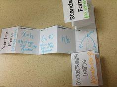 Quadratic Equations Foldable