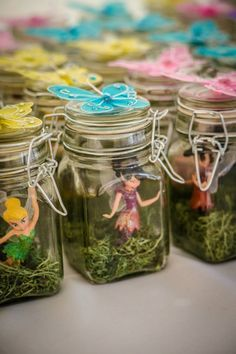 Monsterology - make a flower fairy or beaded buddy and put them in a jar for fairies!!!!! For a future birthday party -- fairy party favors. But I want to figure out a different fairy, not Disney...