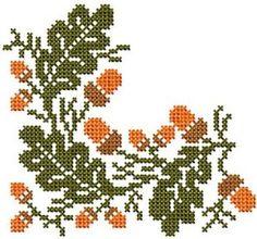 Cross Stitch 1 - Set 3 - - Kitchen Decor - Designs - by Meh - Very Few J. - - Cross Stitch 1 – Set 3 – – Kitchen Decor – Designs – by Meh – Very Few Jump Sti - Fall Cross Stitch, Cross Stitch Letters, Cross Stitch Kitchen, Cute Cross Stitch, Cross Stitch Borders, Cross Stitch Flowers, Cross Stitch Kits, Cross Stitch Charts, Cross Stitch Designs