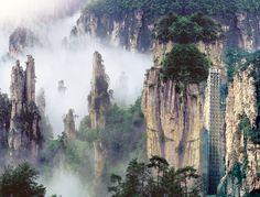 Tianzi Mountain bailong elevator