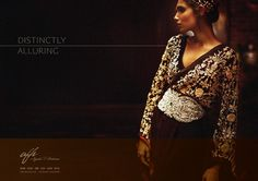 Ayesha Farook Hashwani Formal Wear Collection 2012 For Women. Black embroidered Wrap top.