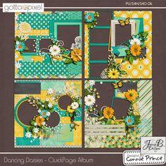 Dancing Daisies - QuickPage Album :: Gotta Pixel Digital Scrapbook Store