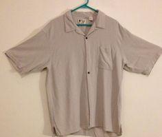 Men's Vintage Silk Circa 1969 Short Sleeve Button Front Shirt Size XL 100% Silk #vintagesilk #ButtonFront
