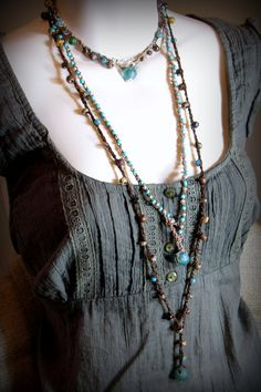 Rustic Chunky Crochet Gypsy Wrap Five Wraps by AllowingArtDesigns