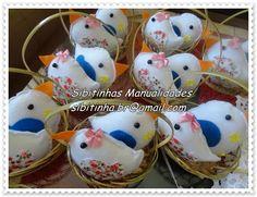 Sibitinhas e Formiguinhas: Casal de passarinhos em feltro