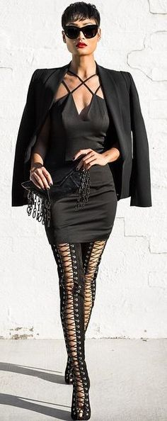 Everything Black Chic Style by Micah Gianneli