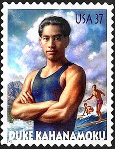 Olympian Duke Kahanamoku gave surfing exhibitions at Coney Island, NY in 1919 during a Red Cross fund-raising tour.