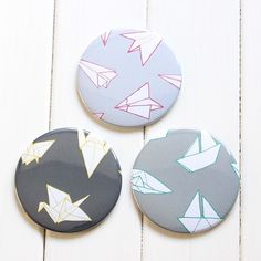 Matching origami mirrors for your pouches too? Oh yeah!! #sparrowandwolf #origami