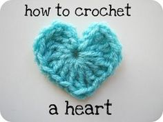 Cornflower Blue: how to crochet a heart :: photo tutorial (note to self 2/8/2013: I have done this and it is the easiest and fastest heart crochet, will be awesome as scrapbook embellishment)