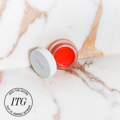 RMS Lip2cheek has a coconut-oil based formula that gives fresh, lived-in color