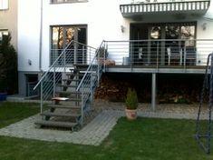 Geländer Für Terrasse Glas Stahl Balkon Idee Modern | Häuser Von ... Terrassen Gelander Design