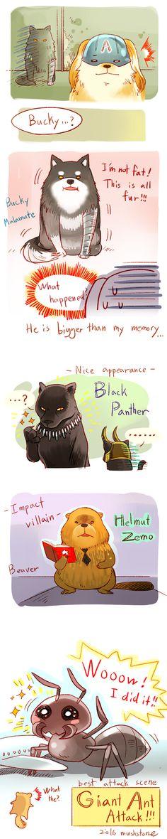 Animal Avengers 15 by Mushstone