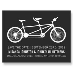 bicycle #wedding save the date