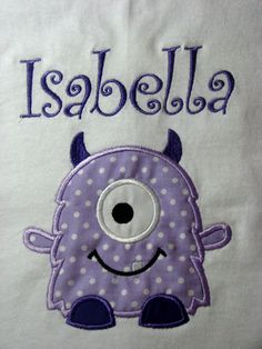 Cute monster shirts that are personalized!