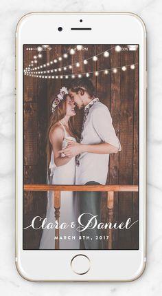 Snapchat On-Demand Geofilter For a Rustic Wedding - Barn Wedding Ideas - String Lights - Romantic