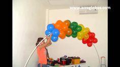 decoracion con globos plaza sesamo