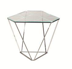 Glass side table DIAMOND - ROCHE BOBOIS