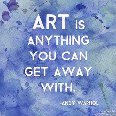 Art Quote by Any Warhol www.montmarte.net