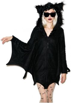 Leg Avenue Hangin' Out Bat Hoodie- immediately thought of Jes. &wanted to own this.