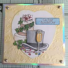 Made using a printed la pashe image, a crafters companion embossing folder and tonic nuvo gold gilding wax.
