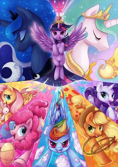 This is ponies by KaceyMeg.deviantart.com on @deviantART