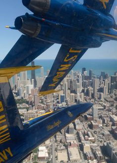 Blue Angels over the city ~ Chicago Annual Air & Water Show