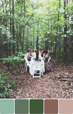 Image Via: A Blog Named Scout (while the colors are excellent, the idea of dinner in the woods with friends & table is brilliant!!!!)