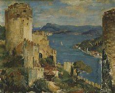 İbrahim Çallı  (1882-1960): Turkish painter. http://www.maroon.com.tr/galeri/ibrahim-calli/ibrahim-calli-hisar