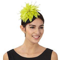 925a901dfb1 Star by Julien Macdonald Lime flower fascinator. Occasion HatsJulien ...