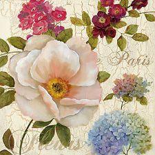 Nan: Paris Fleurs Fertig-Bild 50x50 Wandbild Blumen Garten Landhaus Deko