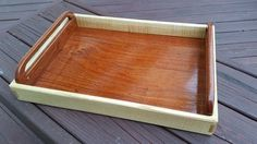 Serving tray - quilted ash and mystery wood