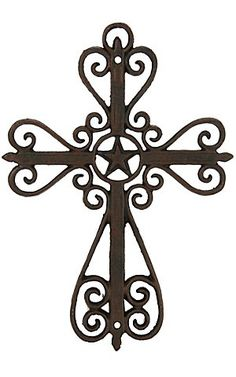 M Western Products® Metal Swirls and Star Wall Cross | Cavender's Boot City