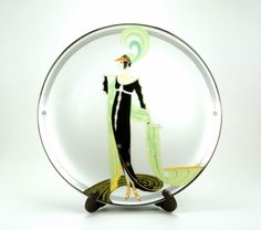 Directoire House of Erté The Franklin Mint Fine Porcelain Decorative Plate Sevenarts LTD HA4654
