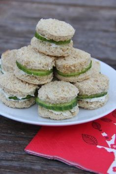 Cucumber-Boursin Tea Sandwiches