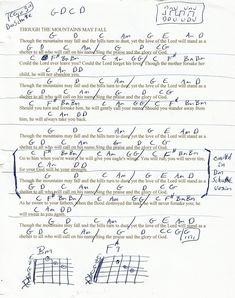 Though the Mountains May Fall (Dan Schutte) Guitar Chord Chart - Capo Guitar Chords Pdf, Guitar Chord Chart, Jack Johnson Banana Pancakes, Better Together Jack Johnson, Guitar Instructor, Easy Guitar Tabs, The Monkees, Love Songs Lyrics